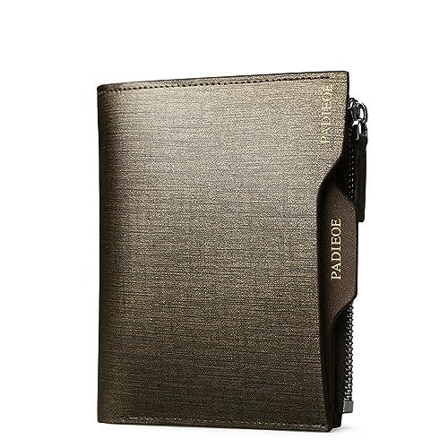 b28f6096914e Amazon | Padieoe 長財布 二つ折り 財布 メンズ 本革 人気 ブランド メンズ小銭入れ 財布 革QB160626-2J 通販