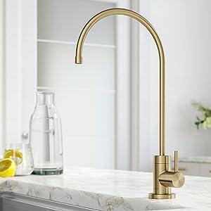 Kraus FF-100BG Purita 100% Lead-Free Kitchen Water Filter Faucet, Brushed Gold