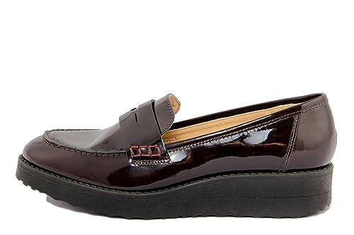 EJE - Mocasines de Charol Mujer, marrón (marrón), 39: Amazon.es: Zapatos y complementos