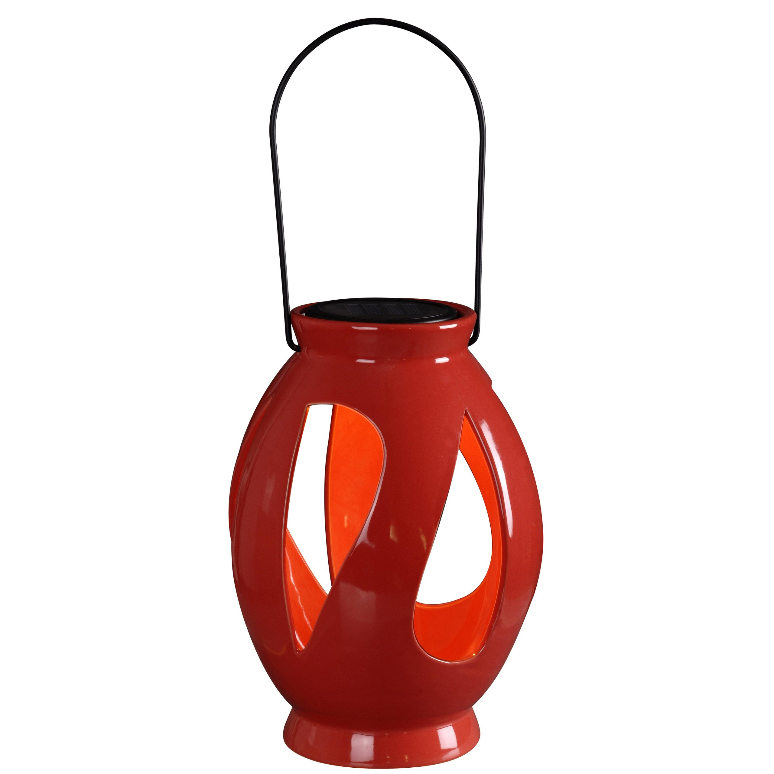 Kenroy Home 60525RED Leaves Solar Lantern, Red