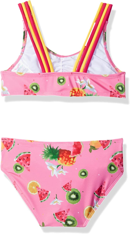Jantzen Girls Little Chiquita Fruit Print Rashgaurd Set