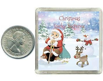 Frohe Weihnachten Und Happy New Year.Amazon De Frohe Weihnachten Und Happy New Year Lucky Sixpence Coin