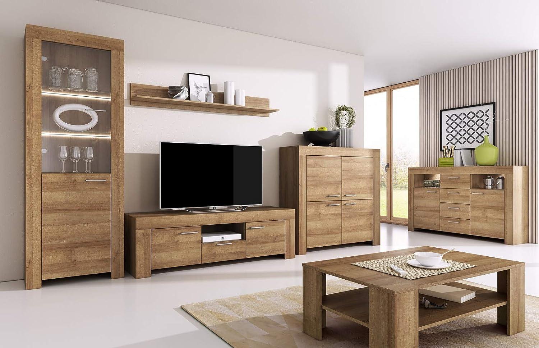 Furniture47 Tisch ausziehbar Esstisch Sky (Riviera Eiche)