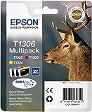 Encre d'origine EPSON Multipack Cerf T1306 : cartouches Cyan, Magenta et Jaune