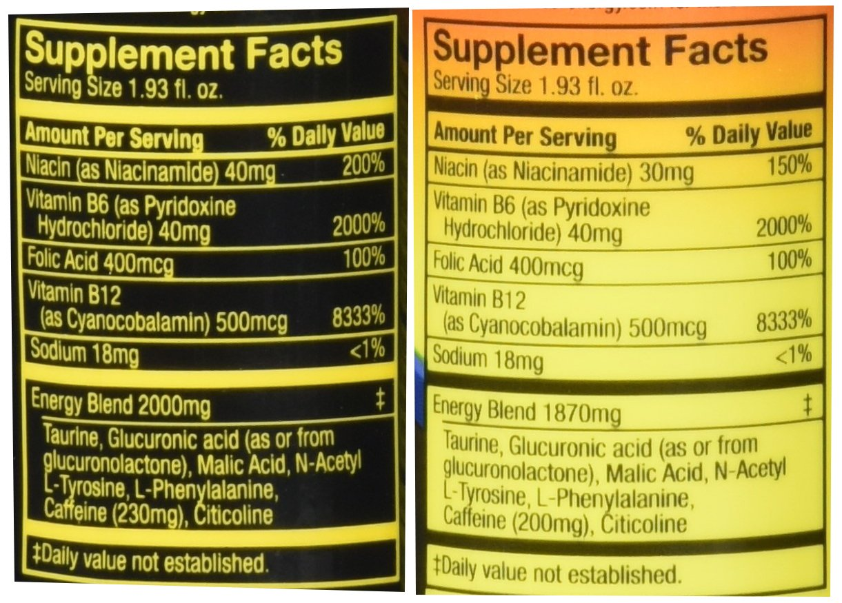 12 Pack of 5 Hour Energy and 12 Pack of 5 Hour Extra Strength, Combo Pack, 1.93 Fluid Ounces Box (Pack of 24) by 5 Hour Energy (Image #4)