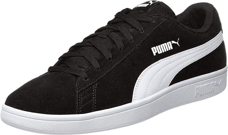 Puma Smash V2 Sneakers Unisex Damen Herren Schwarz/Weiß
