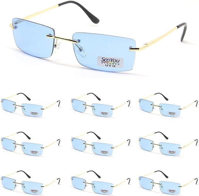 SY SEEYOU lunettes de soleil verre transparent multicolores rectangulaire