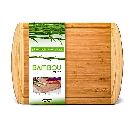 Mervy – Tabla de cortar de bambú (Bio bacinilla – 44 x 32 x 1