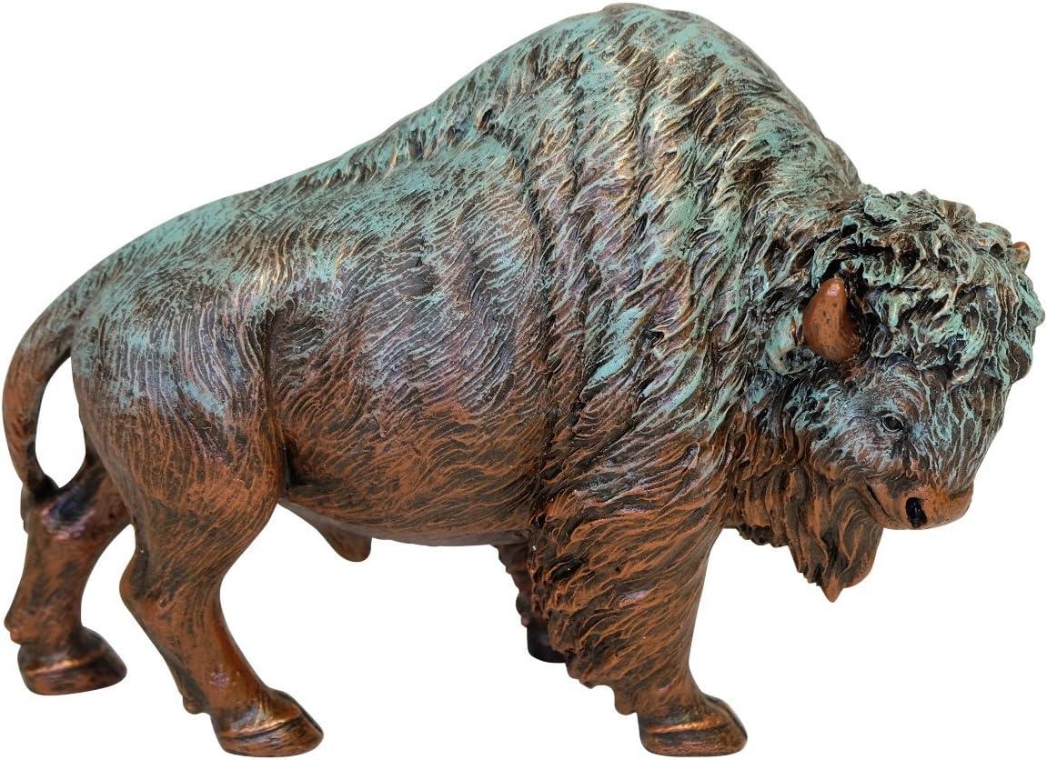 LL Home Bronze Color Bison Figurine, Brown