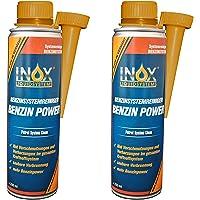INOX® Benzine Power additief, 2 x 250 ml - benzine-systeemreiniger toevoeging voor alle normale en superbenziners