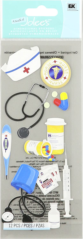 Jolee's Boutique 50-10026 Sticker 3D Nurse Accessories, Multicolor