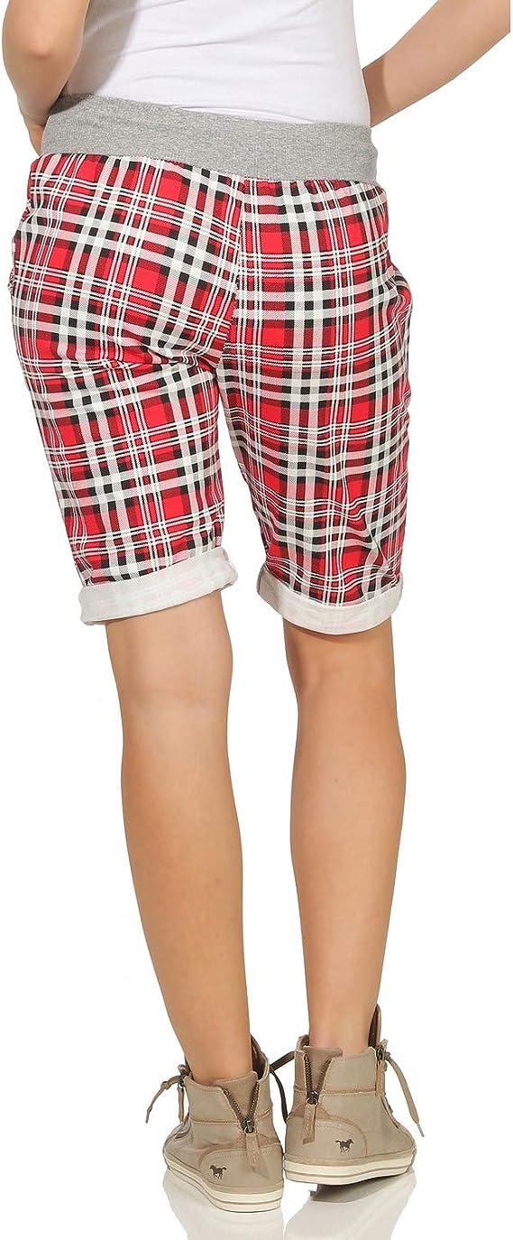 ZARMEXX Pantalones Cortos para Mujer Pantalones de Verano Boyfriend de Bermudas de Capri