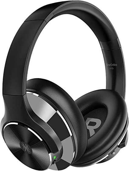 Amazon Com Oneodio Bluetooth Headphones Active Noise Cancelling Headphones Wireless Over Ear With 40 Hour Playtime Hi Fi Sound Anc Deep Bass Cvc 8 0 Call Quick Charge For Travel Airplane Office Tv Mobile Phone