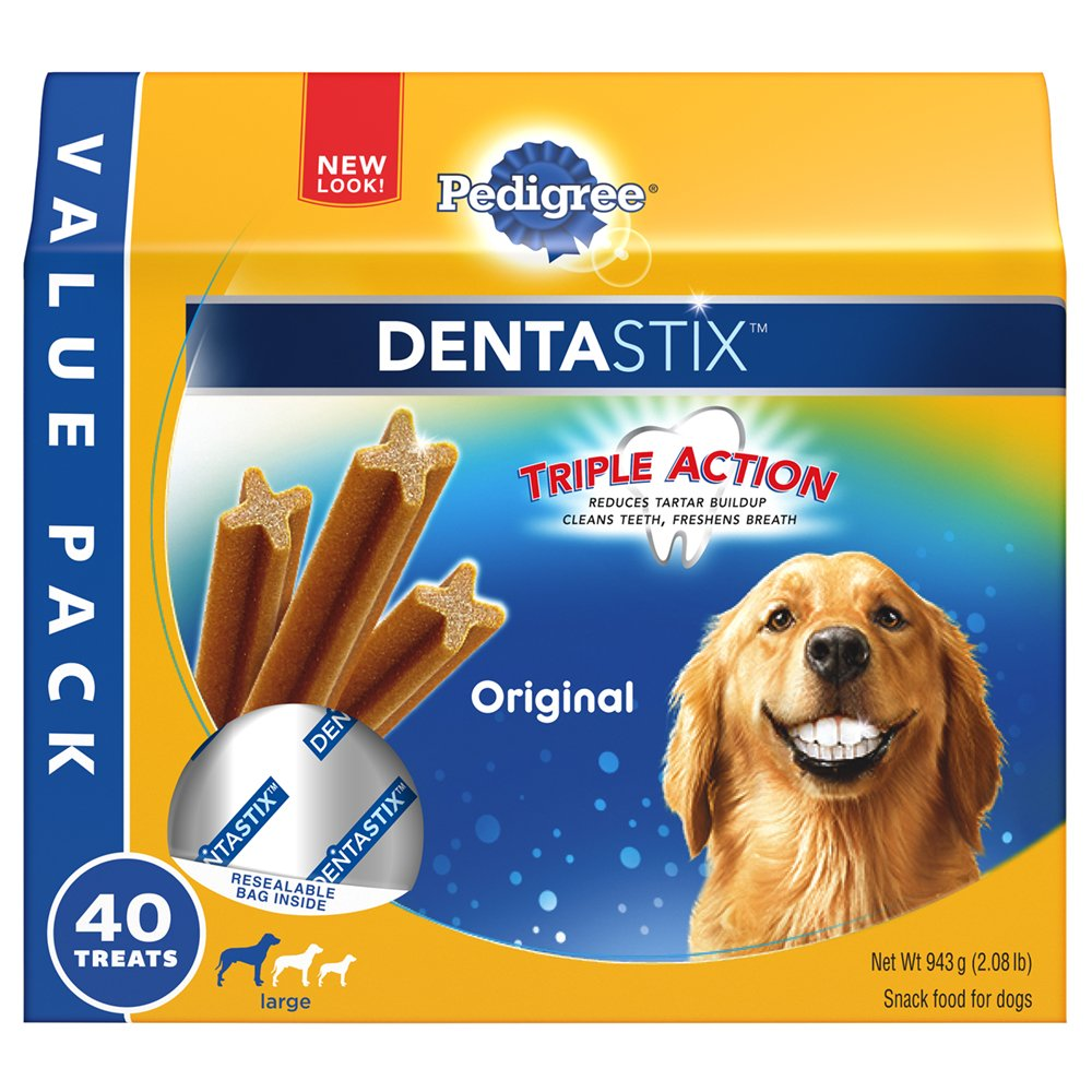 PEDIGREE Dentastix Large Dog Treats Original 40 Treats