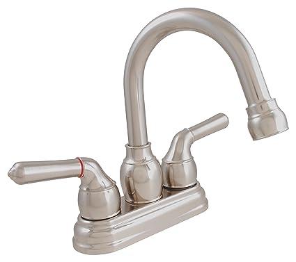 LDR 952 46405BN Exquisite Bathroom Faucet, Gooseneck Swing Spout ...