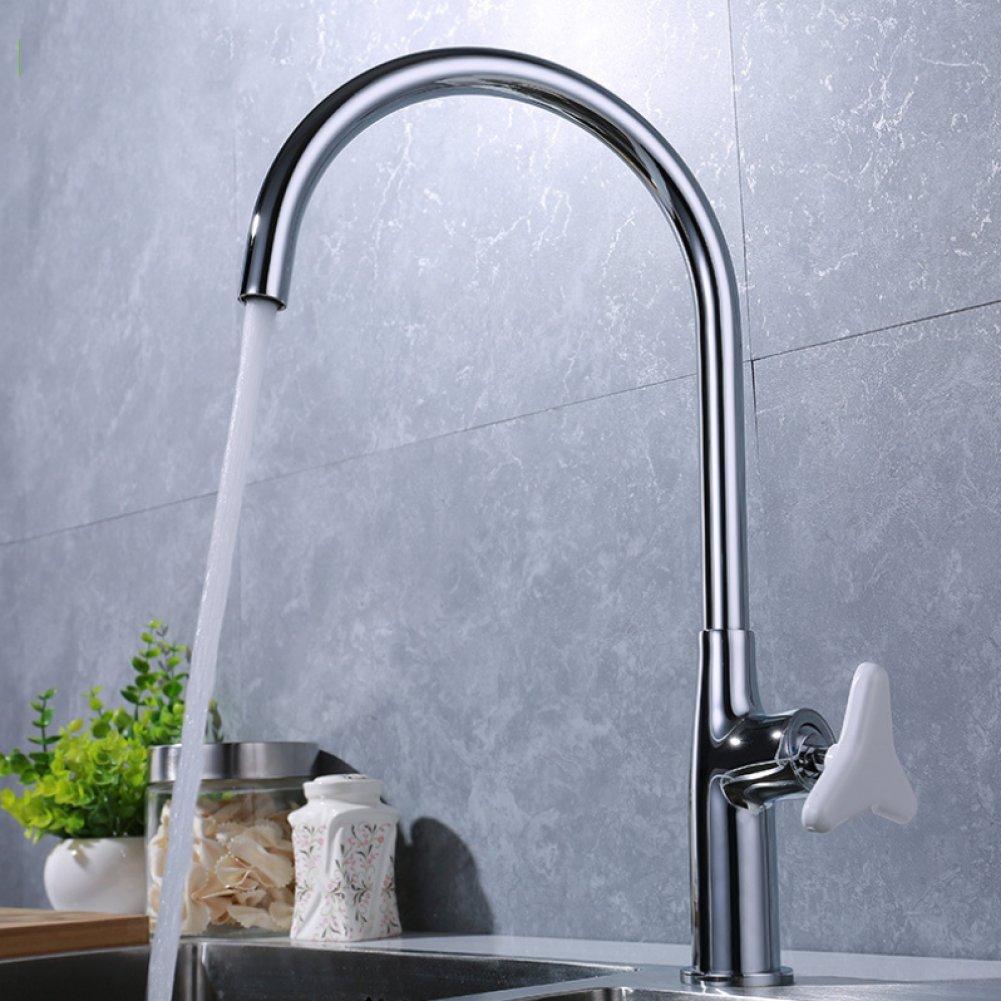 GZF Bathroom Sink Taps Faucet Full Chrome Copper Kitchen Faucet Single Unit Above Counter Basin Sink Faucet Mixed Faucet Single Unit Bathroom Set
