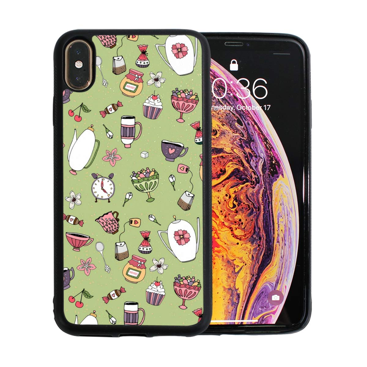 Matcha Cake Decorating Supplies Designed for Apple iPhone Xs MAX Case Scratch-Resistant Ultra-Thin Case