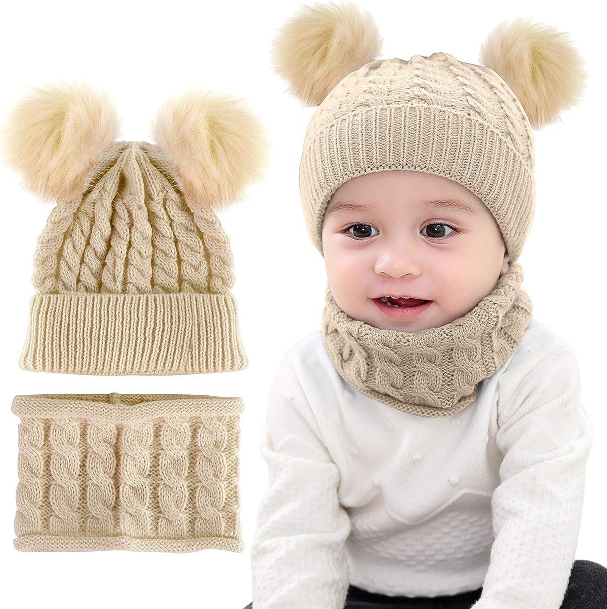 DIGOOD Toddler Baby Girls Boys Winter Warm Faux Fur Beanie Cute Hat Cap