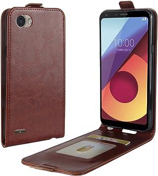 Funda® Capirotazo Billetera LG Q6 Plus/LG Q6 (Marrón): Amazon.es ...