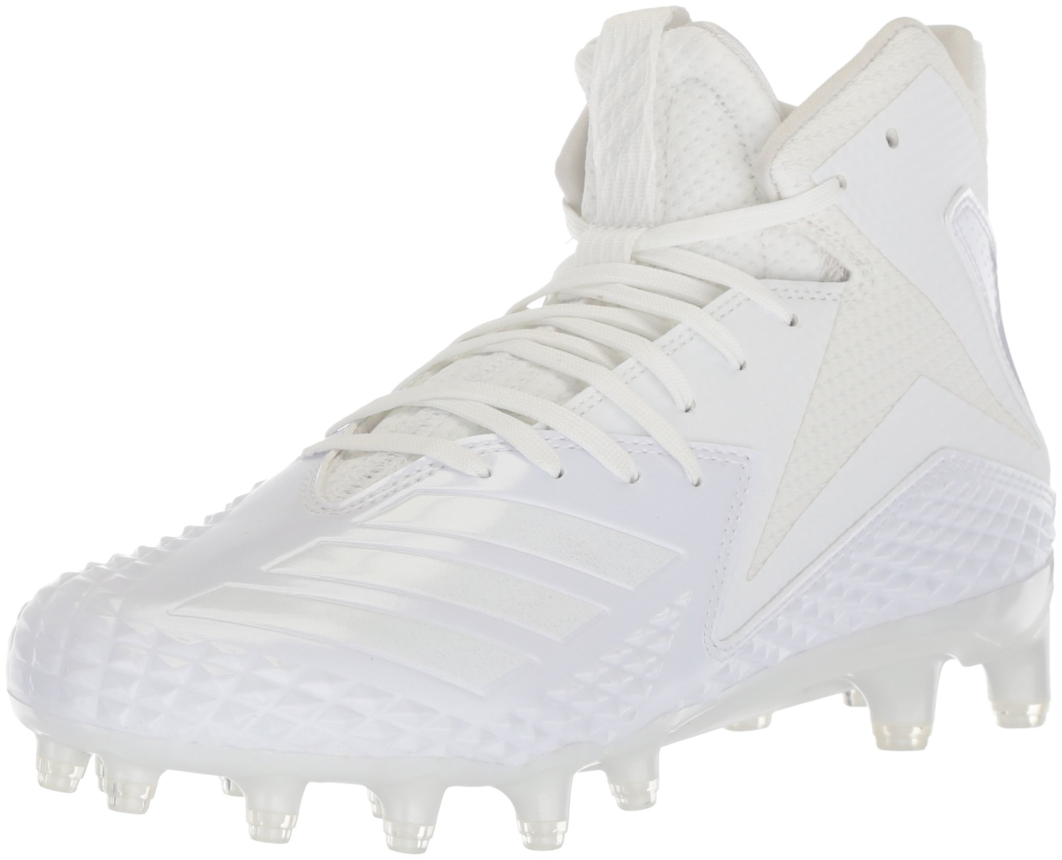 adidas Men's Freak X Carbon Mid Football Shoe, White/White/White, 7 M US