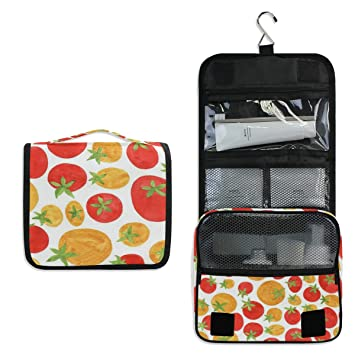 623c287d7bbe Amazon.com : Hanging Toiletry Bag Tomato Funny Travel Organizer for ...