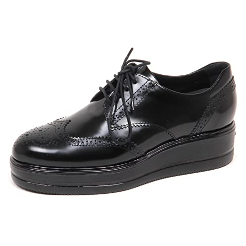 E3888 scarpa donna HOGAN H323 scarpe francesina nero shoe woman