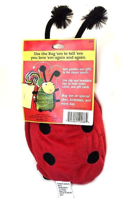 Hallmark Bug /'Em Ladybug Plush Reusable Gift Bag