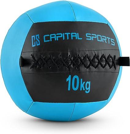CapitalSports Wallba 10 Balón Medicinal de Cuero sintético (Peso ...
