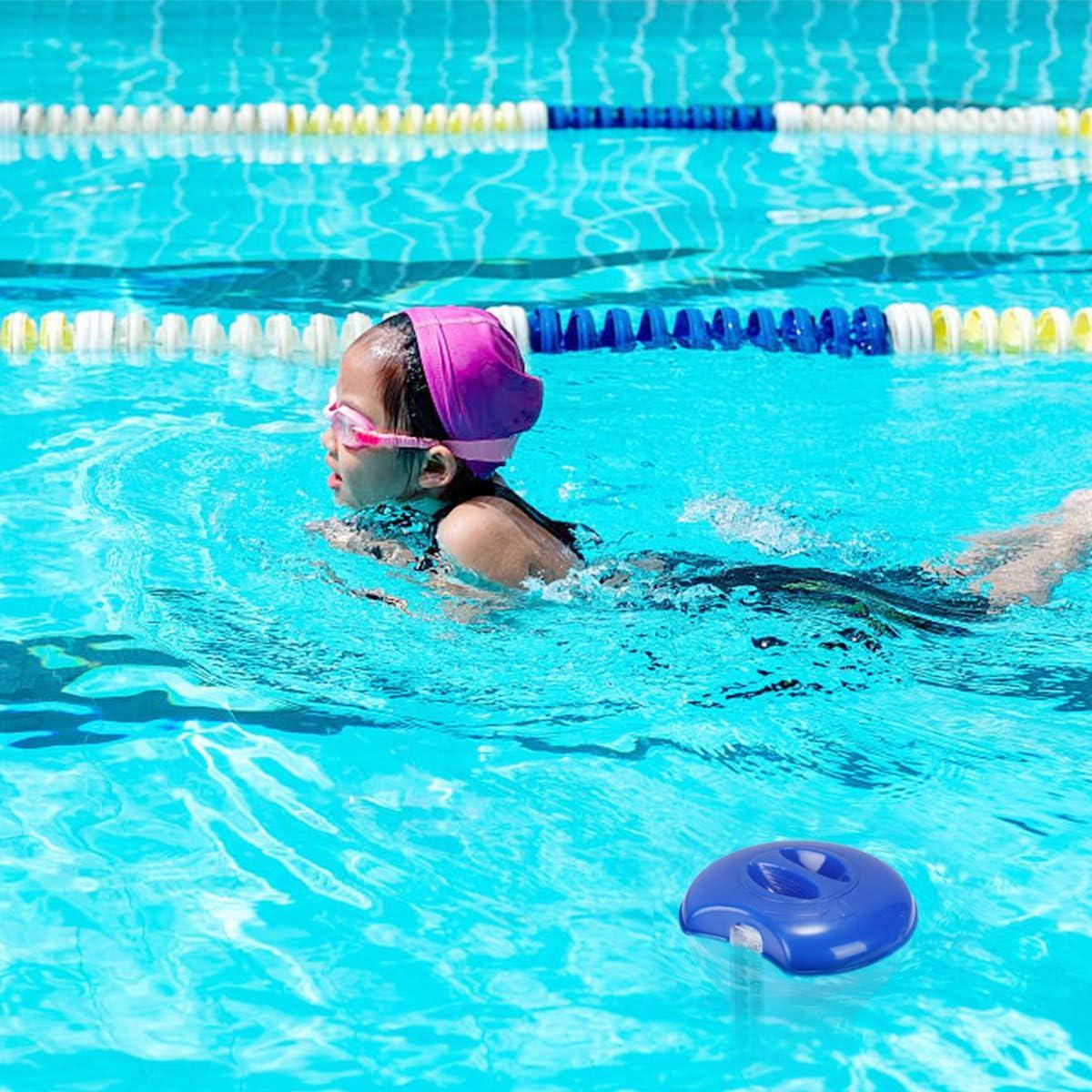 RenFox Pool Chlor Floater f/ür Chlortabletten Langlebiger Pool Chlor Tablet Floater,Geeignet zur Reinigung von Schwimmb/ädern Schwimmender Chlordiffusor mit Schwimmbadwasserthermometer Spas.2 St/ücke