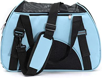 31 x 48 x 26 cm Pet Carrier Soft-Sided Kennel Cab Folding Soft Dog Crate Pet Travel Carrier Bag for Dogs Cats and Puppies less than 8 kg