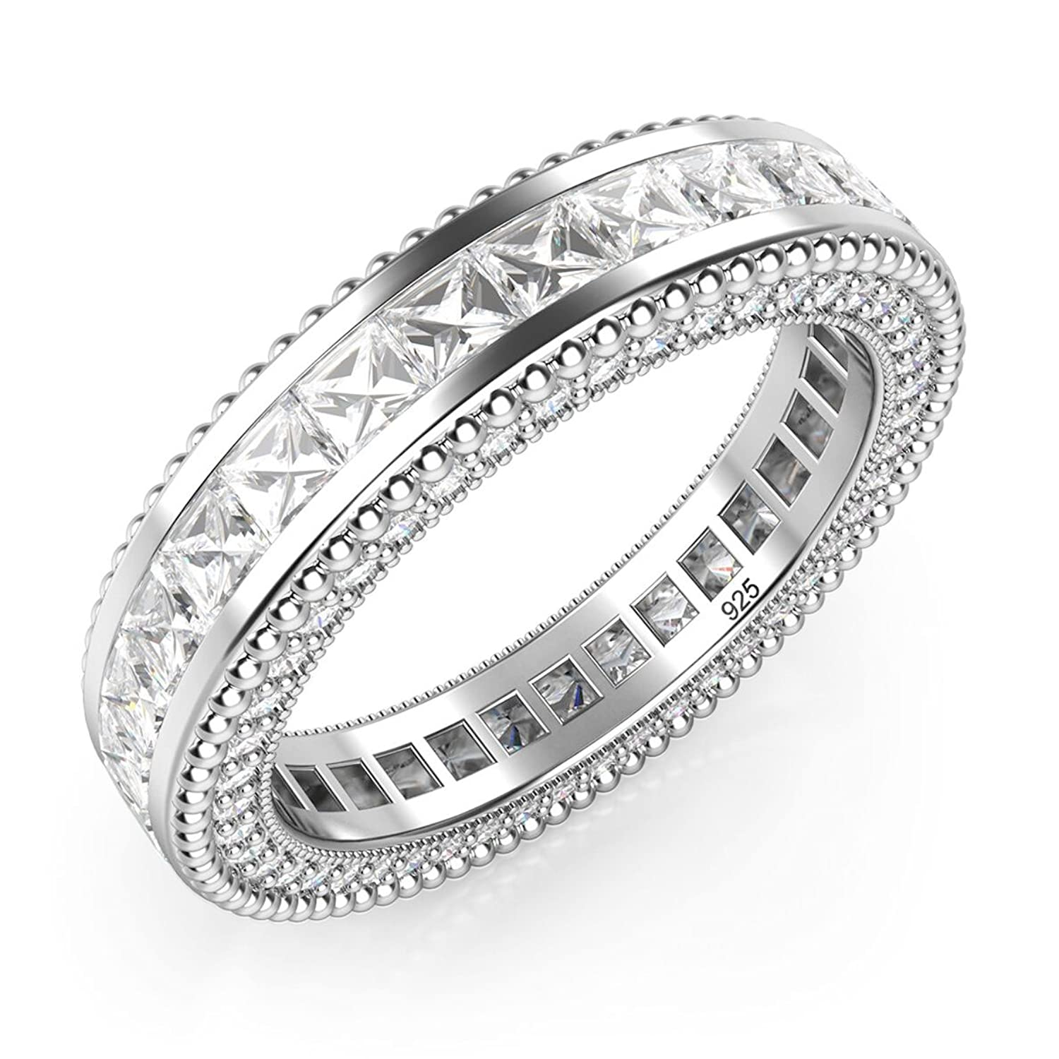 band products eternity all sterling real silver zirconia cttw bands around cubic kim img platinum new plated