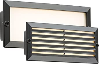Knightsbridge LED Bricklight Outdoor Brick Light Blue//Black Fascia Low Energy