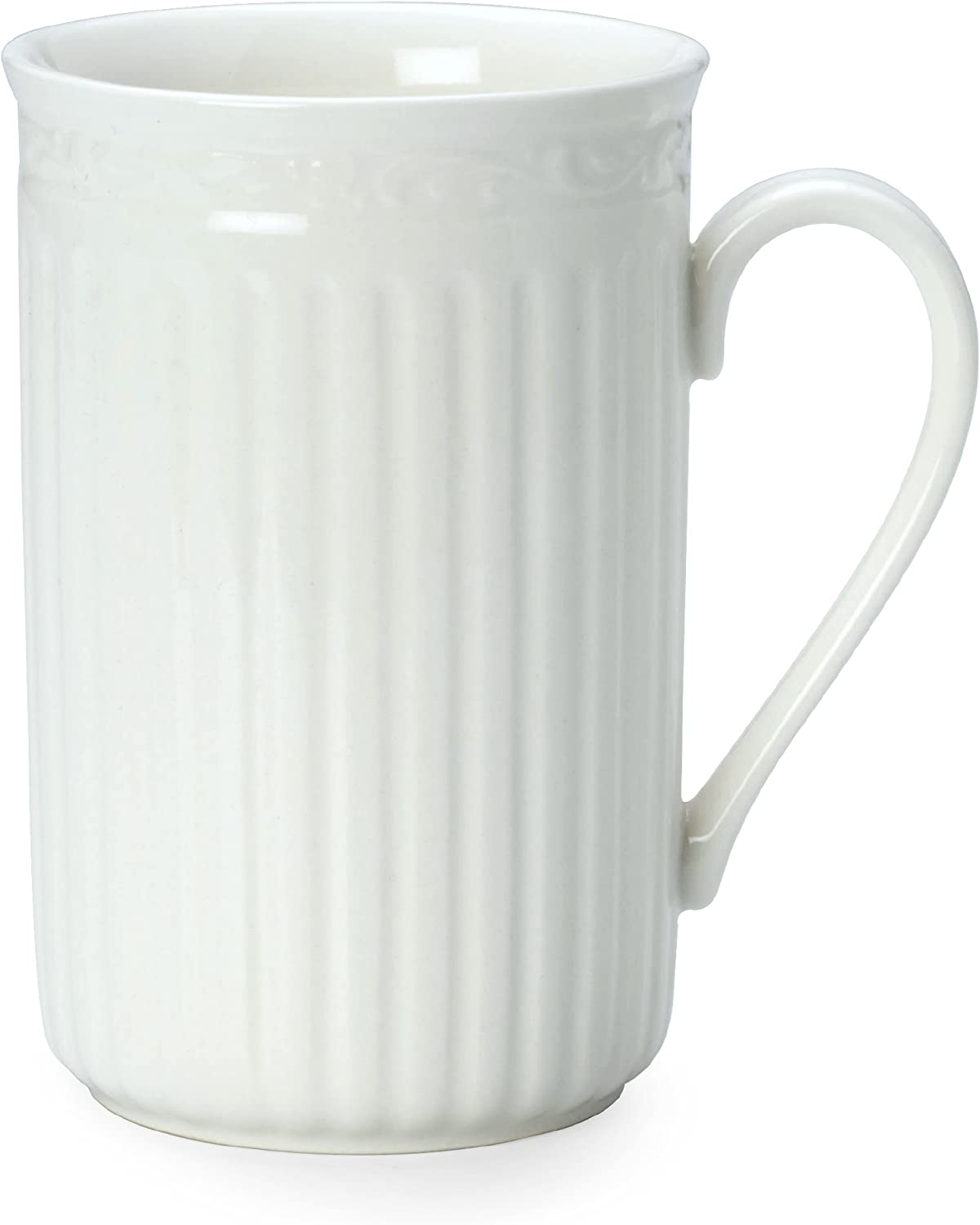 Mikasa Italian Countryside Cappuccino Mug, 13.5-Ounce, Single, White - DD900-816