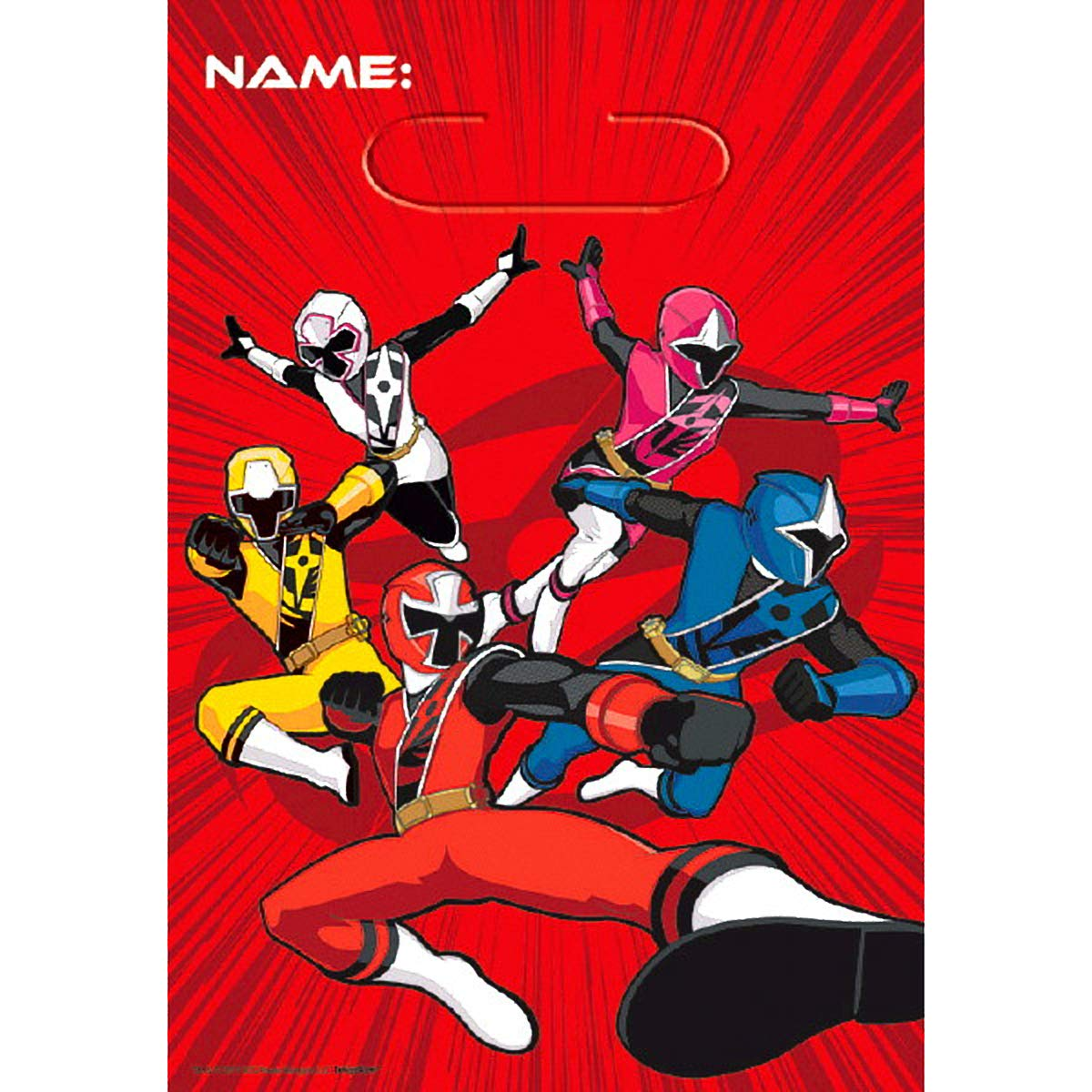 Amazon.com: Power Rangers Ninja Steel™ Folded Loot Bag ...
