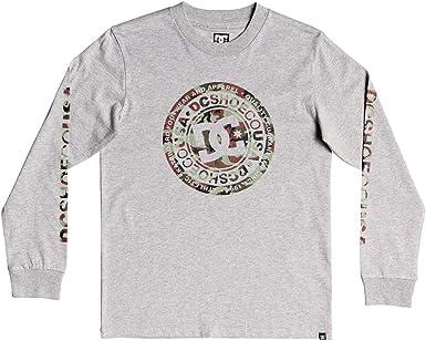 DC Shoes Circle Star - Camiseta de Manga Larga para Chicos 8-16 Camiseta De Manga Larga Niños