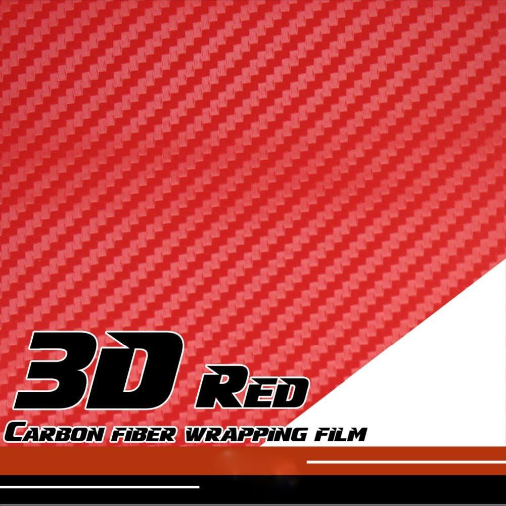 3D Carbon Fiber Vinyl Car Wrap Sheet Roll Film Sticker Cover Decal NEW Trim V4Z3