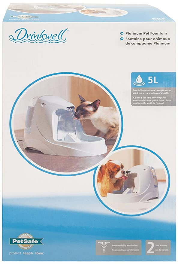 Pet Supplies For Cats & Dogs Cat Supplies Petsafe Drinkwell Platinum Pet Water Fountain With Filter