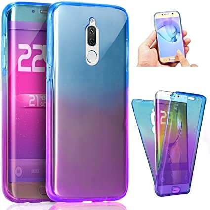 PHEZEN Huawei Mate 10 Lite Case, Shockproof 360 Front and Back Full Body Protection Flexible TPU Bumper Case Anti-Scratch Protective Case for Huawei ...