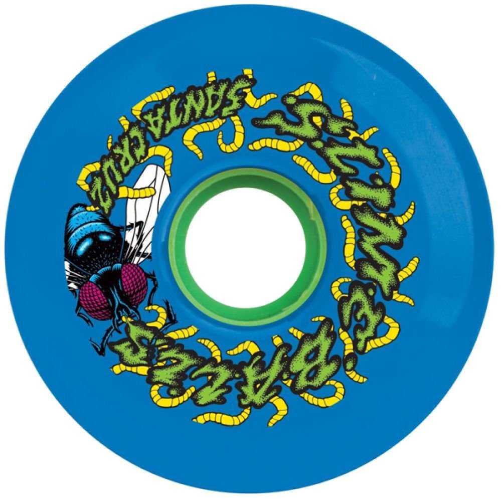 Santa Cruz Skateboards Slimeballs Maggots Blue Skateboard Wheels   60mm 78a (Set Of 4) by Santa Cruz