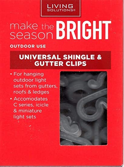 UNIVERSAL SHINGLE & GUTTER HOOKS Light Clips CHRISTMAS LIGHTS 50 count - Amazon.com: UNIVERSAL SHINGLE & GUTTER HOOKS Light Clips CHRISTMAS