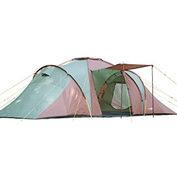 Skandika Daytona Family C&ing Tent with 3 Sleeping Rooms and Sun Canopy Porch Green/  sc 1 st  Amazon UK & Skandika Daytona Family Camping Tent with 3 Sleeping Rooms and Sun ...