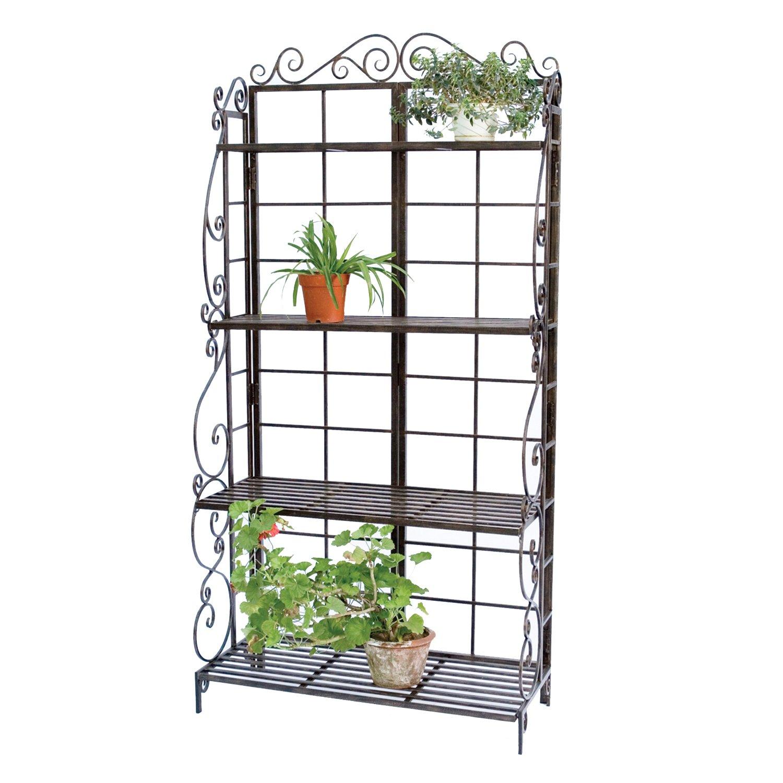 Amazon.com : Panacea Products Bakeru0027s Rack Plant Stand, Brushed Bronze :  Free Standing Baker Racks : Garden U0026 Outdoor