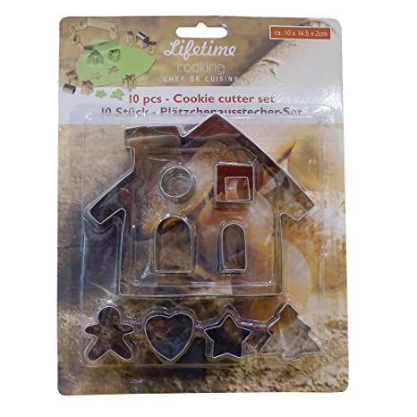 Juego de moldes 10 piezas), diseño de casa hogar, cortador de galletas moldes