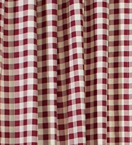 Thermalogic Check Tab-Top Valance Curtain 15''L x 40''W Energy Efficient Insulated Light Block- Cranberry