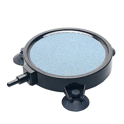 UnicLife 10 cm Disco de piedra de aire Difusor de burbujas con ventosas para el acuario