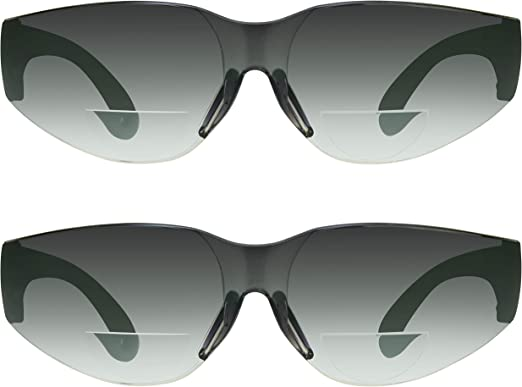 X SPORTZ Silver//Black Frames BIFOCAL Reader Sunglasses 1.00 strength-Brand New