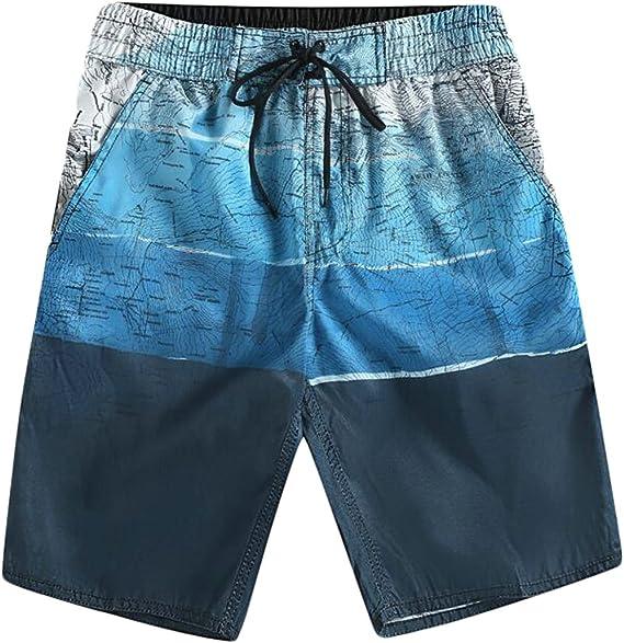 Playa Pantalones Cortos De Cinco Puntos Moda Impresion De Secado Rapido Pantalones De Surf Hombres Casual Xl Azul Clothing Men
