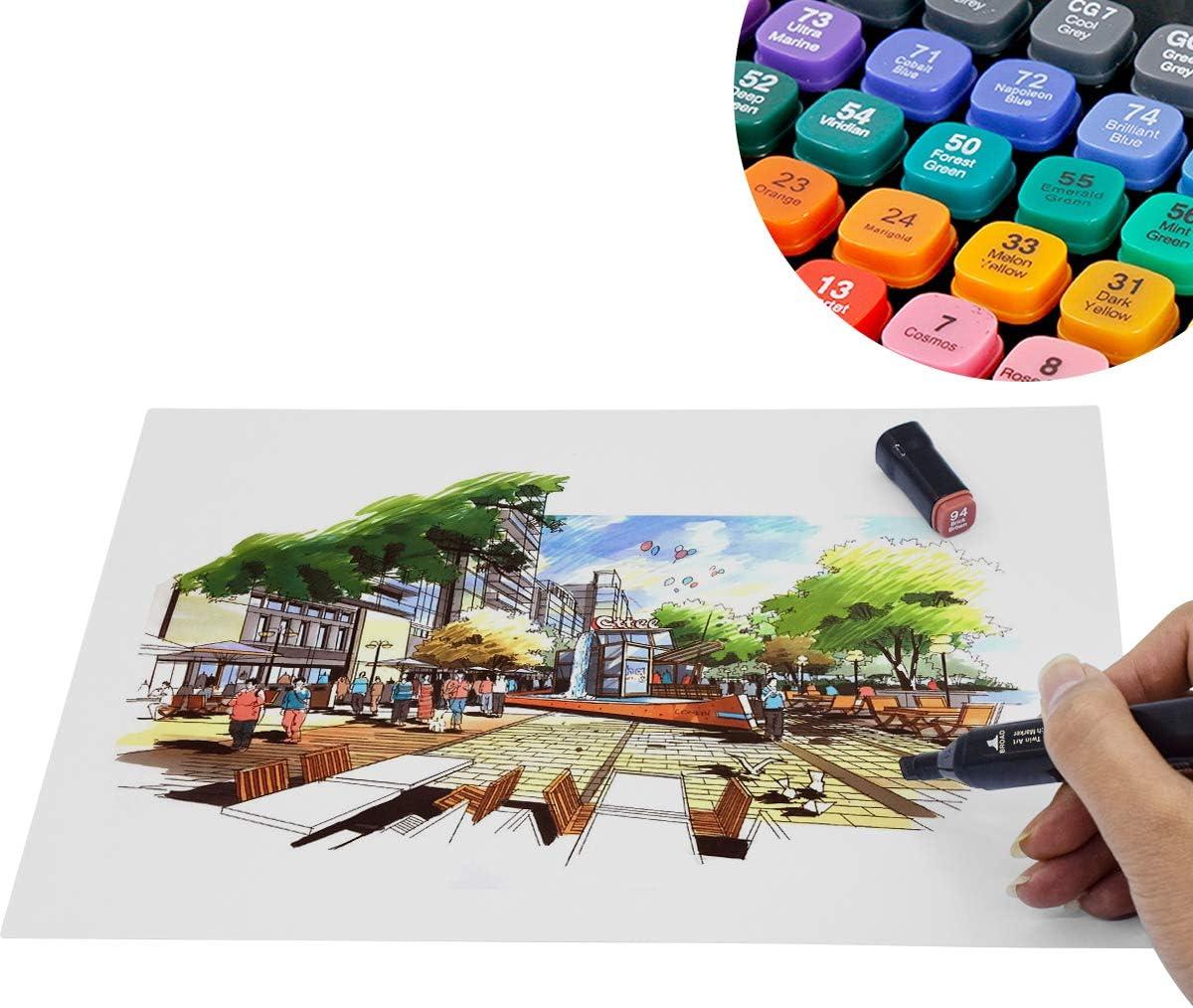 80 Couleurs Marqueurs Crayon de Feutre Marker Cr/éatif pour D/ébutants Graffiti DIY Art Esquisse SGS Certifi/és Markers Alcool Feutres /à Alcool Kit Double Pointe Stylo Marqueur d/'Aquarelle