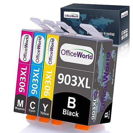 OfficeWorld 903XL Pack Reemplazo para Cartuchos de tinta HP 903L ...