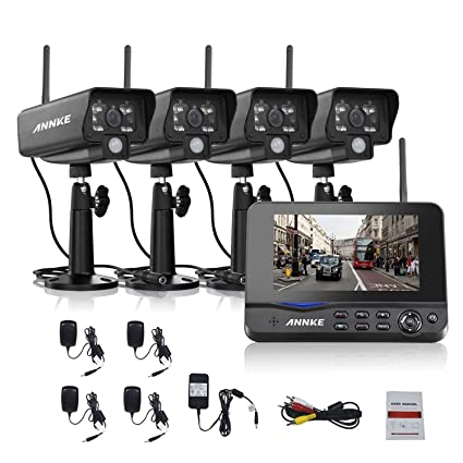 Amazon.com : ANNKE Wireless Security System Video Monitoring ...